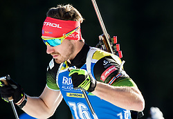Mitja Drinovec (SLO) in action during the Men 10km Sprint at day 6 of IBU Biathlon World Cup 2018/19 Pokljuka, on December 7, 2018 in Rudno polje, Pokljuka, Pokljuka, Slovenia. Photo by Vid Ponikvar / Sportida