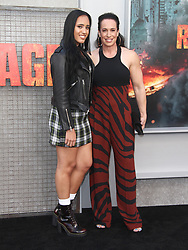 Rampage Premiere at The Microsoft Theatre in Los Angeles, California on 4/4/18. 04 Apr 2018 Pictured: Simone Alexandra Johnson, Dany Garcia. Photo credit: River / MEGA TheMegaAgency.com +1 888 505 6342