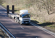 DAF heavy goods vehicle on A12 trunk road in Suffolk, England