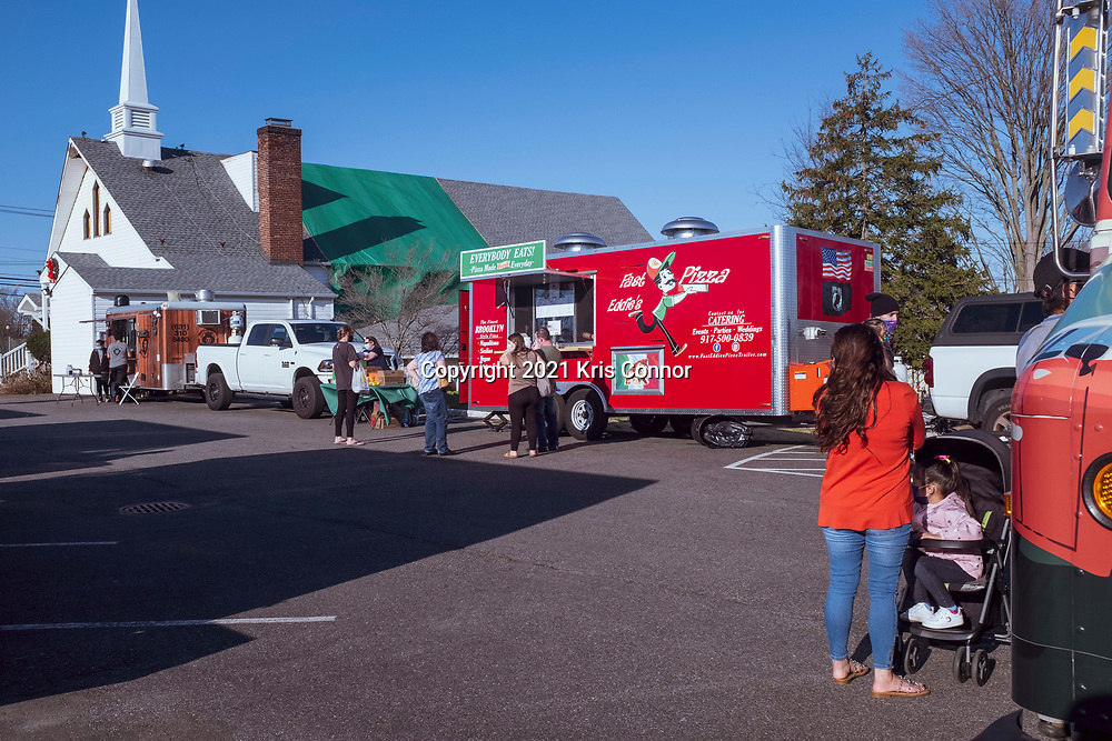 Food Truck Fridays in  Levittown, New York on March 26th, 2021. Photo by Kris Connor