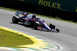 November 17, 2019, Sao Paulo, SP, Brazil: PIERRE GASLY of the Toro Rosso Honda 2th place of the Brazilian Formula 1 Grand Prix at Interlagos racetrack. (Credit Image: © Marcelo Chello/ZUMA Wire)