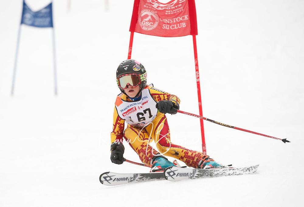 Francis Piche Invitational giant slalom 2nd run J5 at Gunstock March 17, 2012.