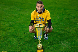 Anis Jasaragic during celebration of NK Bravo, winning team in 2nd Slovenian Football League in season 2018/19 after they qualified to Prva Liga, on May 26th, 2019, in Stadium ZAK, Ljubljana, Slovenia. Photo by Vid Ponikvar / Sportida