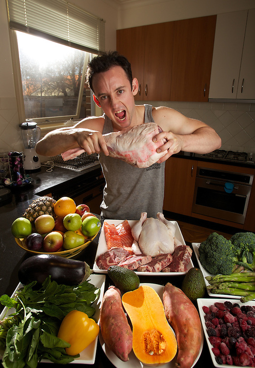 Nick Karp is a personal trainer whose fitness and eating regime is based around what the cavemen ate. Pic By Craig Sillitoe CSZ/The Sunday Age.11/05/2012 melbourne photographers, commercial photographers, industrial photographers, corporate photographer, architectural photographers, This photograph can be used for non commercial uses with attribution. Credit: Craig Sillitoe Photography / http://www.csillitoe.com<br /> <br /> It is protected under the Creative Commons Attribution-NonCommercial-ShareAlike 4.0 International License. To view a copy of this license, visit http://creativecommons.org/licenses/by-nc-sa/4.0/.