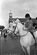 "08/08/1962<br /> 08/08/1962<br /> 08 August 1962 <br /> Dublin Horse show at the RDS, Ballsbridge, Dublin, Wednesday. Image shows Miss Juliana (Juliama?) Brooke, eldest daughter of the Hon. Capt. and Mrs John Brooke, patting her pony ""Andy Pandy"" a prize winner in Class 54 Children's Pony (4 years and over- over 12.2 hands) at the show."