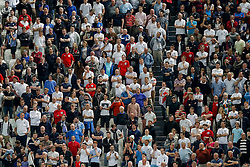 England fans look frustrated as they watch the match - Photo mandatory by-line: Rogan Thomson/JMP - 07966 386802 - 31/03/2015 - SPORT - FOOTBALL - Turin, Italy - Juventus Stadium - Italy v England - FIFA International Friendly Match.