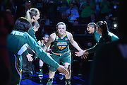 April 4, 2016; Indianapolis, Ind.; Jenna Buchanan is introduced before the NCAA Division II Women's Basketball National Championship game at Bankers Life Fieldhouse between UAA and Lubbock Christian. The Seawolves lost to the Lady Chaps 78-73.