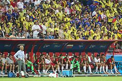 June 24, 2018 - Kazan, Russia - Adam Nawalka, Head coach of Poland looks his team during the Russia 2018 World Cup Group H football match between Poland and Colombia at the Kazan Arena in Kazan on June 24, 2018. Colombia won 0-3. (Credit Image: © Foto Olimpik/NurPhoto via ZUMA Press)