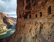 Nankoweap granaries, ancient Indian structures, Grand Canyon National Park, AZ