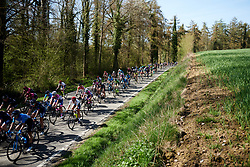 Clara Koppenburg (GER) in the bunch at La Flèche Wallonne Femmes 2018, a 118.5 km road race starting and finishing in Huy on April 18, 2018. Photo by Sean Robinson/Velofocus.com