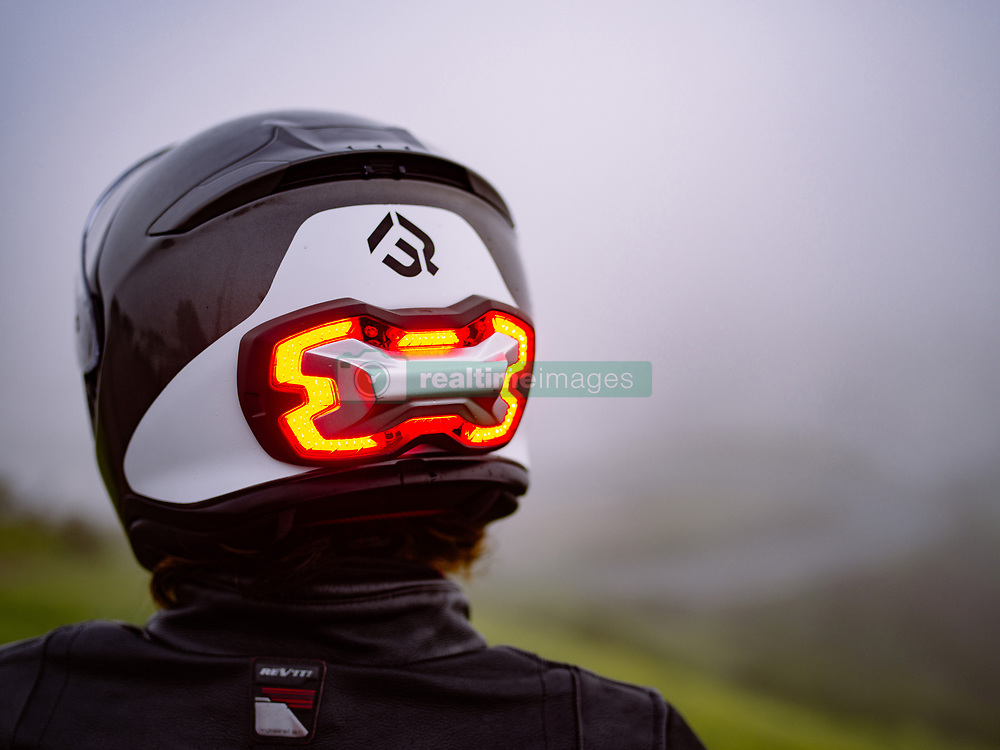 """April 3, 2017 - inconnu - A new motorcycling accessory is set to improve rider safety – with its own high visibility brake light.Brake Free is a one-of-a-kind smart, high-visibility device that fits onto a helmet.It uses LED technology to drastically improve rider visibility to other road users drivers, day and night. The device uses sensors to detect braking, so it is completely wireless, and requires no connection to the motorcycle's electronics. With its sensors, Brake Free automatically lights up no matter how the rider slows down: braking, engine braking or downshifting to alert surrounding drivers. It is mounted on the back of a helmet, at eye level so all surrounding drivers will see the rider. Brake Free uses a shape that is optimized to fit most helmets and to maximize the surface area of the lights. It uses a total of a 100 super bright LEDs to get the job done. It is rechargeable and has an eight hour battery life..It attaches to any helmet using powerful magnets..It has a 120 degree radius so it can be seen from either side as well as from behindUS company Brake Free Technologies chief executive Alex Arkhangelskiy, said: """"We are extremely excited to introduce Brake Free to the motorcycle and scooter rider community. """"It is a much needed safety innovation that will help solve the visibility problem and save many lives. """"Brake Free is the first safety accessory to combine the latest sensor and LED technologies in a simple and beautiful product that riders will be proud to wear.""""The company's industrial designer Ian Dunn added:"""" We are borrowing some of the advanced manufacturing techniques from companies like Audi and BMW""""""""We're delivering a safety product that is brighter and thinner than any other in an application like this."""" Brake Free con-founder Johan Boot said:"""" """"What's special about Brake Free is it can detect deceleration in the direction of travel"""" Even when th"""