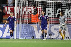 17.07.2011, Commerzbankarena, Frankfurt, GER, FIFA Women Worldcup 2011, Finale,  Japan (JPN) vs. USA (USA), im Bild:  .von links:  Mizuho Skaguchi (Japan), Saki Kumagai (Japan) und Ayumi Kaihori (Japan) entaeuscht / entäuscht / traurig nach dem 1:2 .. // during the FIFA Women Worldcup 2011, final, Japan vs USA on 2011/07/11, FIFA Frauen-WM-Stadion Frankfurt, Frankfurt, Germany.   EXPA Pictures © 2011, PhotoCredit: EXPA/ nph/  Mueller       ****** out of GER / CRO  / BEL ******