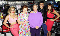 ©  London News Pictures. Heidi Range; Cheryl Baker; Henry Winkler; Ben Freeman; Amy Anzel,  Happy Days: A New Musical - photocall, Ed's Easy Diner, London UK, 08 January 2014, Photo credit: Richard Goldschmidt/LNP