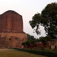 Asia, India, Sarnath. Buddhist Dharmekh Stupa, at the site of Buddha's first sermon.