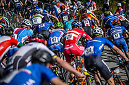 Team USA in the start batch during the Mens Elite Cross Country event at the 2018 UCI MTB World Championships - Lenzerheide, Switzerland