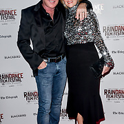 Michael Flatley and Niamh O'Brien attend Blackbird - World Premiere with Michael Flatley at May Fair Hotel, London, UK. 28th September 2018.