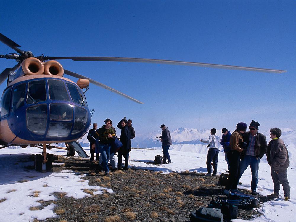Caucasus Mountains, Tusheti Region, Soviet Socialist Republic of Georgia, The Falcon Production, spring 1990