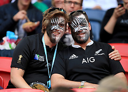 New Zealand fans in the stands during the Rugby World Cup match at Wembley Stadium, London.