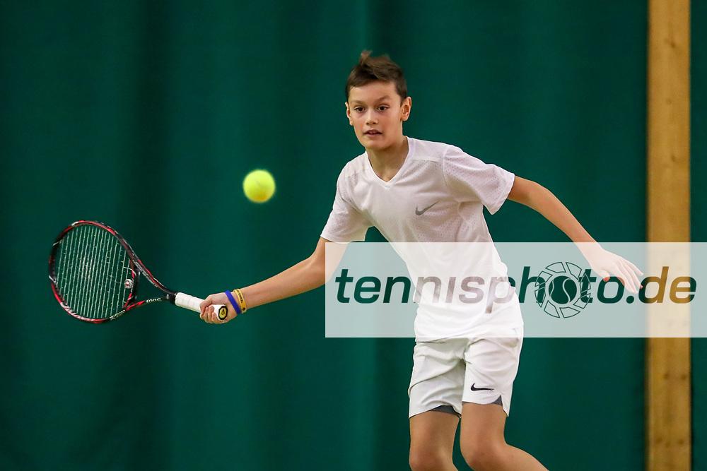 """Carl Radtke (LTTC """"Rot-Weiß""""), TVBB-Jugendhallenmeisterschaften 2018 U12 und U14, Seeburg, 21.01.2018, Foto: Claudio Gärtner"""