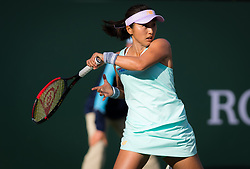 March 9, 2019 - Indian Wells, USA - Misaki Doi of Japan in action during her second-round match at the 2019 BNP Paribas Open WTA Premier Mandatory tennis tournament (Credit Image: © AFP7 via ZUMA Wire)