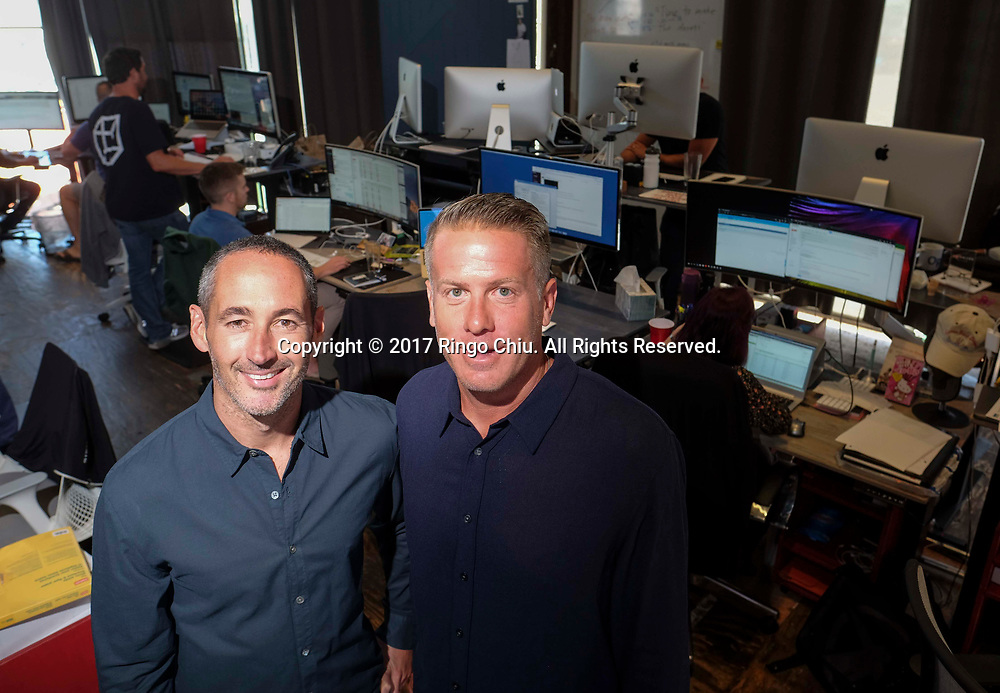 Chuck Ursini (R), CEO, and Michael Blend president of System 1.(Photo by Ringo Chiu)<br /> <br /> Usage Notes: This content is intended for editorial use only. For other uses, additional clearances may be required.