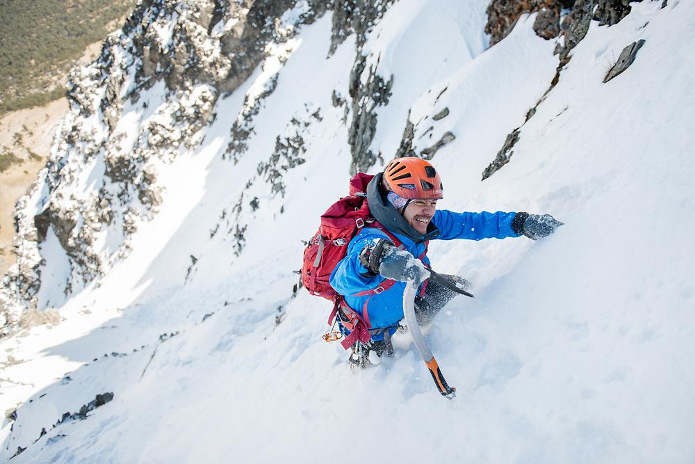 Hector Ponce de León climbing at Nevado de Toluca. Client: Casio G Shock