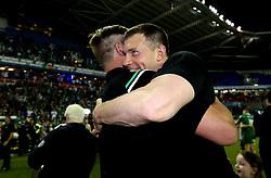 London Irish Director of Rugby Nick Kennedy celebrates winning the Greene King IPA Championship - Mandatory by-line: Robbie Stephenson/JMP - 24/05/2017 - RUGBY - Madejski Stadium - Reading, England - London Irish v Yorkshire Carnegie - Greene King IPA Championship Final 2nd Leg