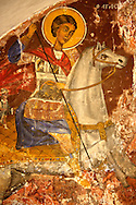 Frescos in the Greek Othodox chuch of Plaiachora,  Aegina, Greek Saronic Islands .<br /> <br /> If you prefer to buy from our ALAMY PHOTO LIBRARY  Collection visit : https://www.alamy.com/portfolio/paul-williams-funkystock/aegina-greece.html <br /> <br /> Visit our GREECE PHOTO COLLECTIONS for more photos to download or buy as wall art prints https://funkystock.photoshelter.com/gallery-collection/Pictures-Images-of-Greece-Photos-of-Greek-Historic-Landmark-Sites/C0000w6e8OkknEb8