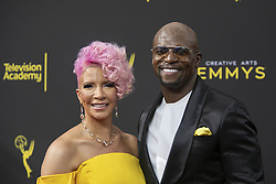 September 14, 2019, Los Angeles, California, United States of America: Terry Crews and Rebecca King-Crews at the red carpet of the 2019 Creative Arts Emmy Awards on Saturday September 14, 2019 at the Microsoft Theater in Los Angeles, California. JAVIER ROJAS/PI (Credit Image: © Prensa Internacional via ZUMA Wire)