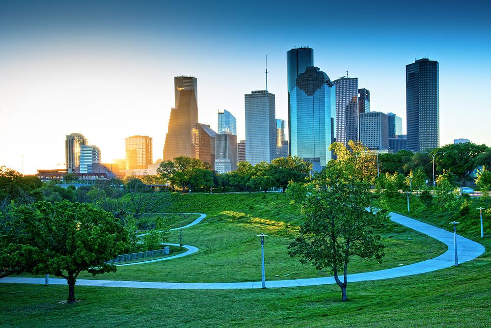 Buffalo Bayou Park, Houston, Texas.