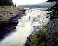 Rainbow Falls Provincial Park, Ontario, Canada, June, 1987, 7 AM.