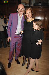 ROBIN WIGHT, CAROLINE MICHEL and her daughter MABEL EVANS at a party to celebrate the publication of 'Seven Secrets of Successful Parenting' by Karen Doherty and Georgia Coleridge, held at Chelsea Town Hall, King's Road, London on 28th April 2008.<br /><br />NON EXCLUSIVE - WORLD RIGHTS