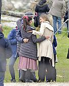 Queen Letizia surprising visit during filming shoot