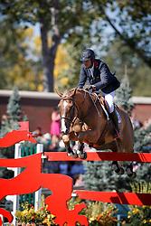 Angot Cedric, (FRA), Saxo de la Cour<br /> BMO Nations Cup<br /> Spruce Meadows Masters - Calgary 2015<br /> © Hippo Foto - Dirk Caremans<br /> 12/09/15