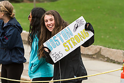 fans cheers at Wellesley College at midpoint of race