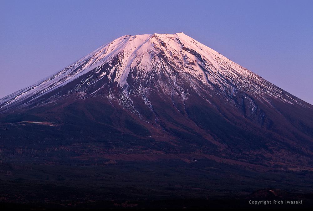 Mt. Fuji at sunset, near Asagiri kogen, Fuji-Hakone-Izu National Park, Shizuoka Prefecture, Japan