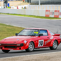 Troy Stones driing the Rotomotion Mazda RX7 in Improved Production at Wanneroo Raceway.