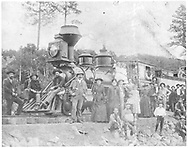 RGS 2-6-0 #11 with the first RGS excursion train at Hesperus.<br /> RGS  Hesperus, CO  summer 1891