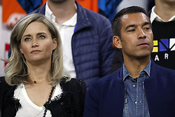 (L-R) Marieke Wolsers van Bronckhorst, Feyenoord coach Giovanni van Bronckhorst during the International friendly match match between The Netherlands and Peru at the Johan Cruijff Arena on September 06, 2018 in Amsterdam, The Netherlands