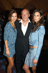 Left to right, JESSICA SIMON, PETER SIMON and ZARA SIMON at a private dinner and presentation of Issa's Autumn-Winter 2005-2006 collection held at Annabel's, 44 Berkeley Square, London on 15th March 2005.<br />