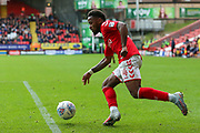 Tariqe Fosu of Charlton Athletic during the EFL Sky Bet League 1 match between Charlton Athletic and AFC Wimbledon at The Valley, London, England on 28 October 2017. Photo by Toyin Oshodi.