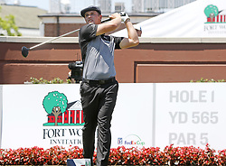 May 26, 2018 - Fort Worth, TX, USA - Bryson DeChambeau begins his 18 holes during the Fort Worth Invitational Golf Tournament at Colonial Country Club Saturday May 26, 2018 in Fort Worth, Texas. (Credit Image: © Bob Booth/TNS via ZUMA Wire)