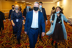 © Licensed to London News Pictures. 25/09/2021. Brighton, UK. Labour Leader KEIR STARMER leaves a meeting of the party's NEC at the Brighton Metropole Hotel . The first day of the 2021 Labour Party Conference , which is taking place at the Brighton Centre . Photo credit: Joel Goodman/LNP