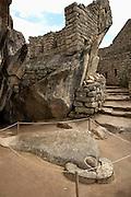 Temple of the Condor at  Machu Picchu  Peru