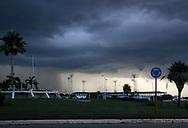Lightning storm moving over the sports stadium in Ciego de Avila, Cuba.