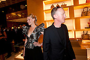 ROMOLA GARAI; MICHAEL LANDY, Louis Vuitton openingof New Bond Street Maison. London. 25 May 2010. -DO NOT ARCHIVE-© Copyright Photograph by Dafydd Jones. 248 Clapham Rd. London SW9 0PZ. Tel 0207 820 0771. www.dafjones.com.