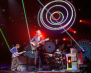 WASHINGTON, DC - July 9th, 2012 - Coldplay perform the first of two shows at the Verizon Center in Washington, D.C. The band's 2011 album, Mylo Xyloto, reached number one in thirty countries. (Photo by Kyle Gustafson/For The Washington Post)