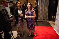Randi and her mother Karen Zuckerberg at the UN Gala in New York, where she interviewed attendees live on Facebook....Photo by Robert Caplin.