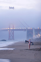 Baker Beach at sunset. Presidio of San Francisco. Golden Gate National Recreation Area. San Francisco,  CA