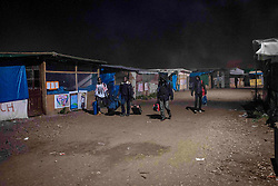 October 24, 2016 - Calais, France - Empty roads in the Jungle, early in the morning. Calais 24/10/2016  (Credit Image: © Guillaume Pinon/NurPhoto via ZUMA Press)